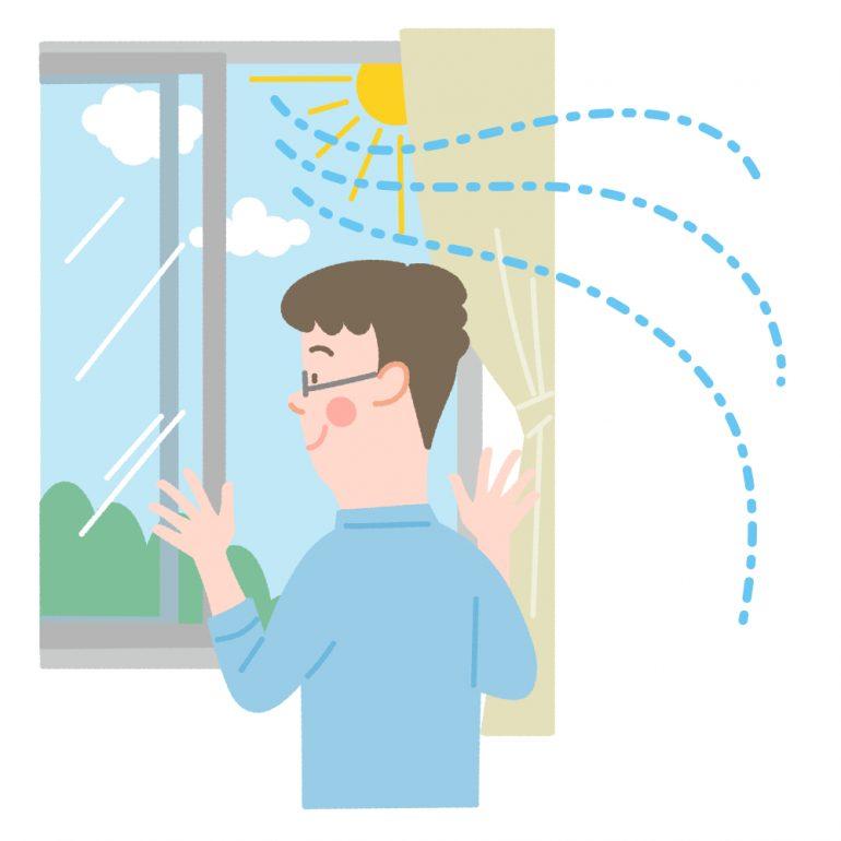 窓・扉の開放、空気清浄機などによる換気