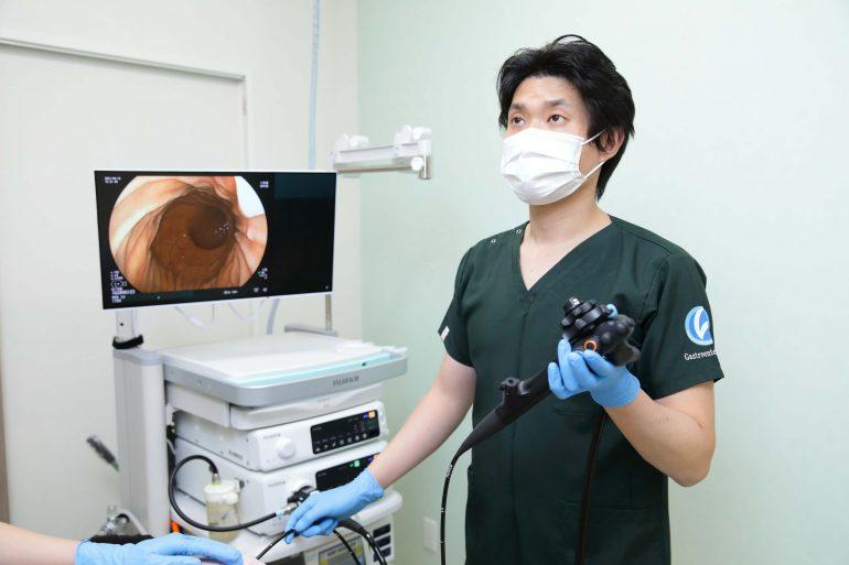 胃カメラ検査の写真