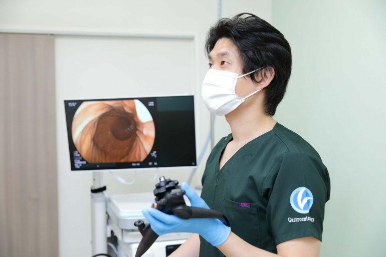 胃カメラ検査風景