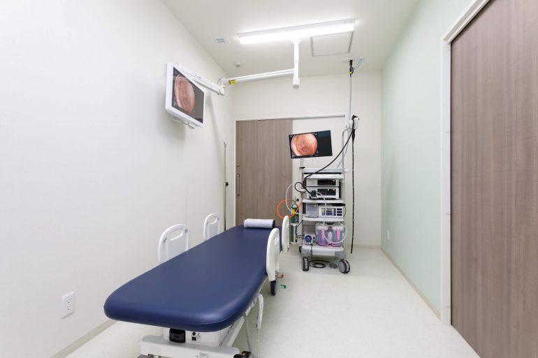 内視鏡室は、プライバシー保護のため個室で行います